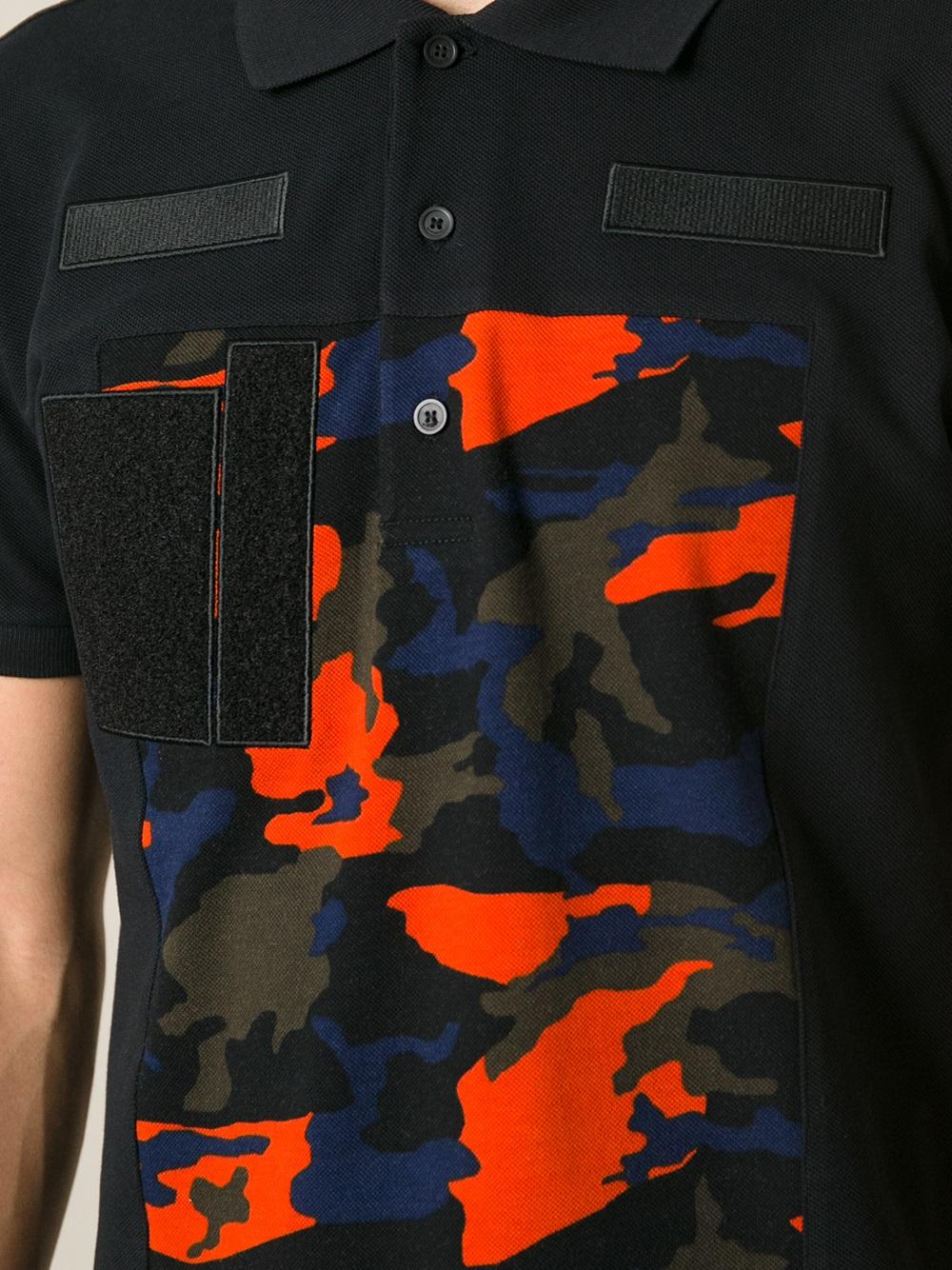 978722ba4 Givenchy Camo Print Polo Shirt in Black for Men - Lyst