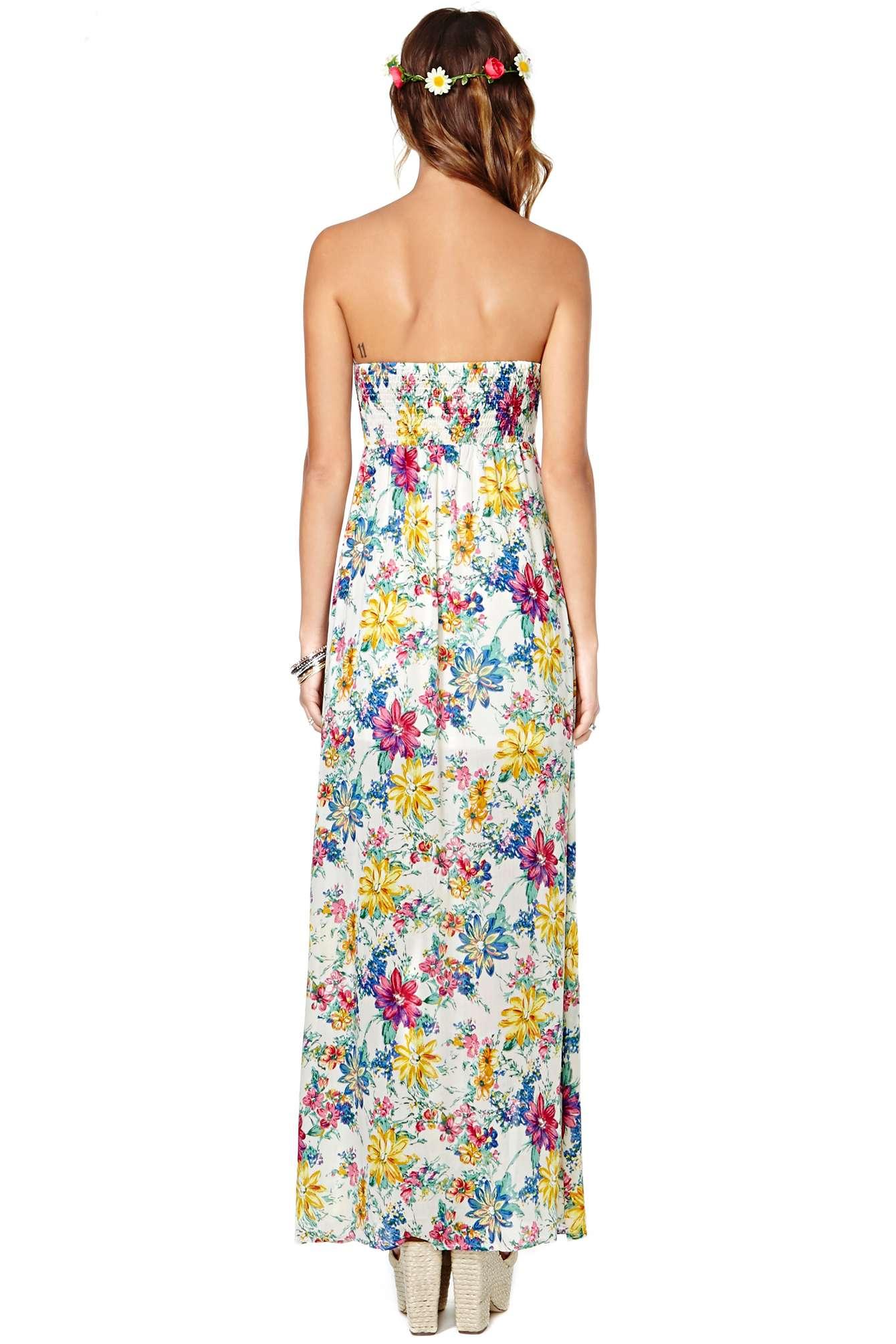 Nasty Gal Reverse Secret Garden Dress Lyst