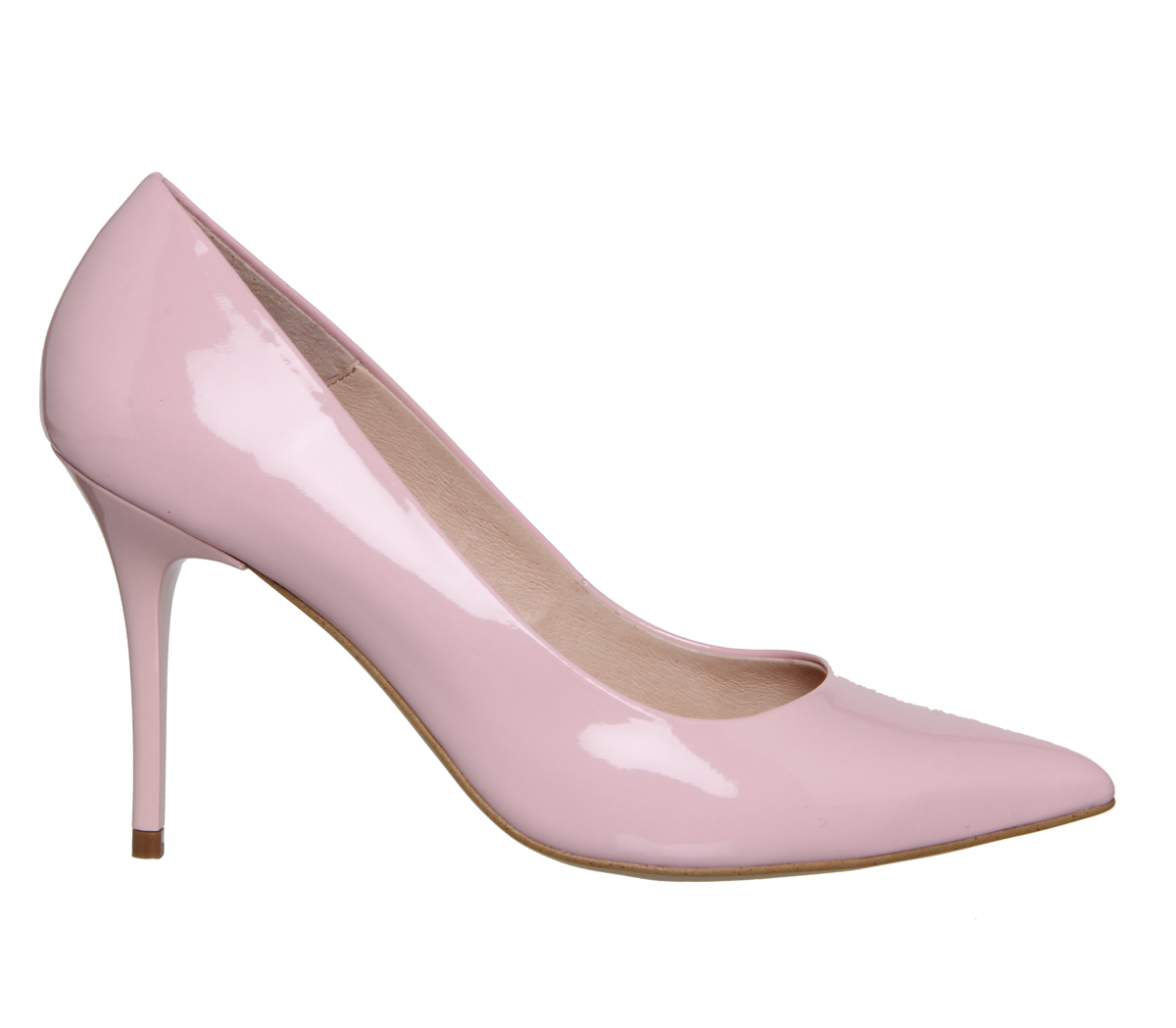 office graduate point court heels in pink lyst