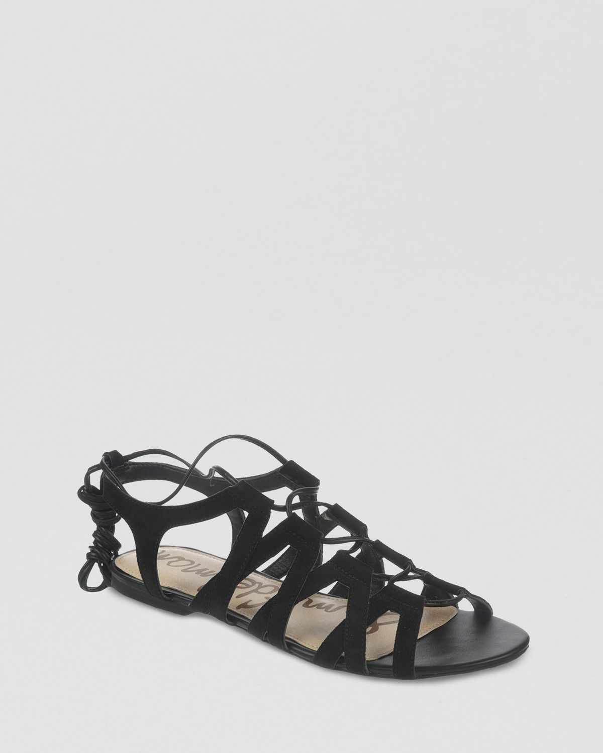 Lyst Sam Edelman Open Toe Flat Lace Up Gladiator Sandals