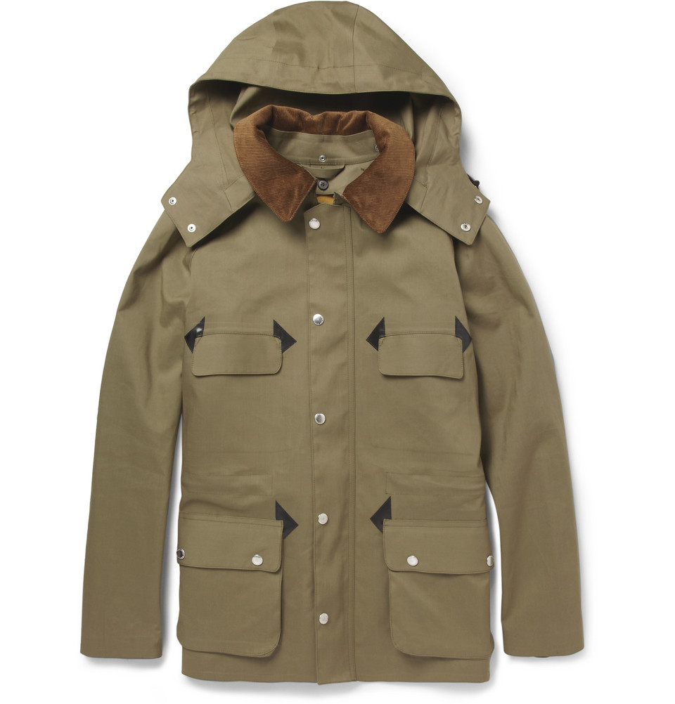 Lyst - Mackintosh Anstruther Handmade Bonded-Cotton Hooded ...