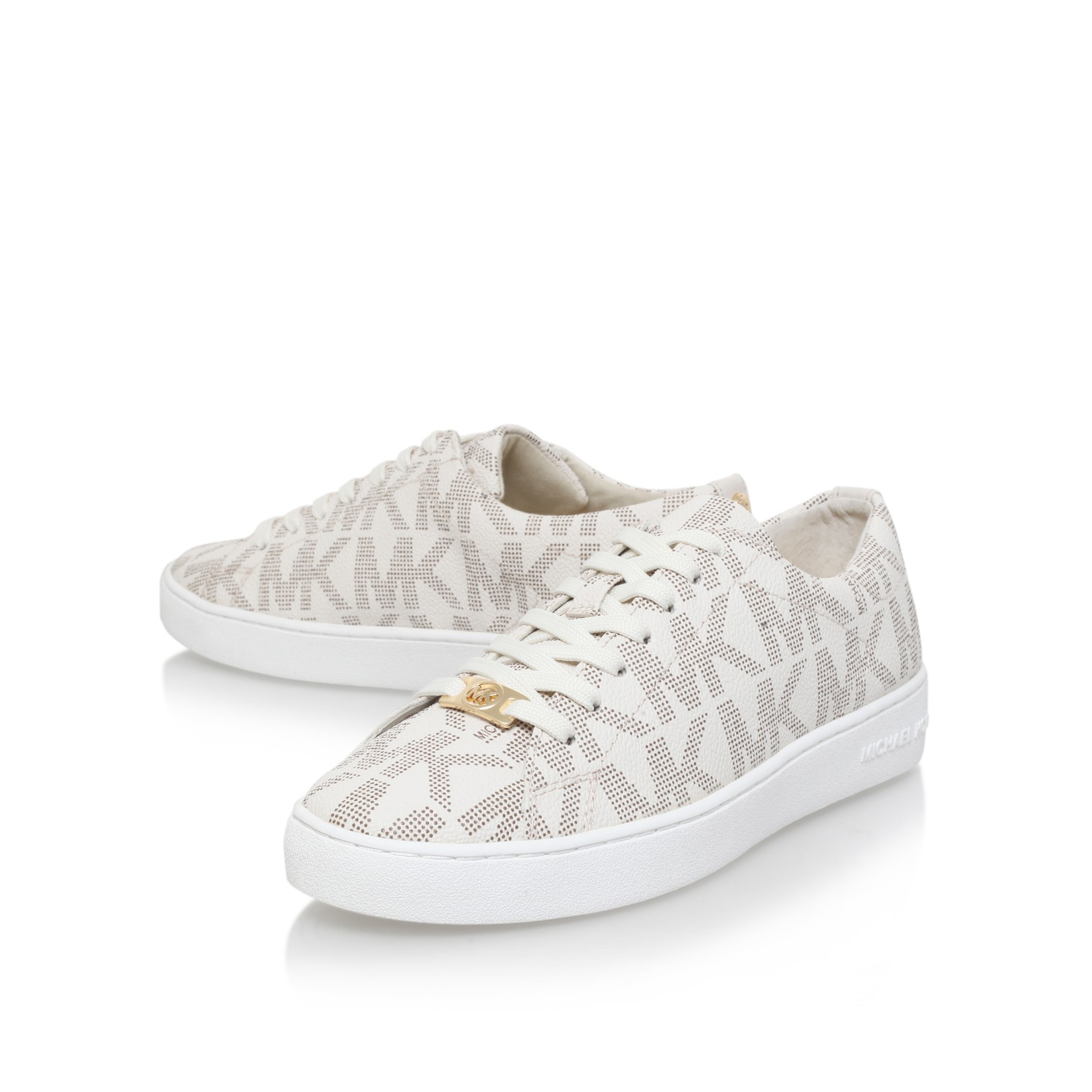 michael michael kors keaton sneaker in white lyst. Black Bedroom Furniture Sets. Home Design Ideas