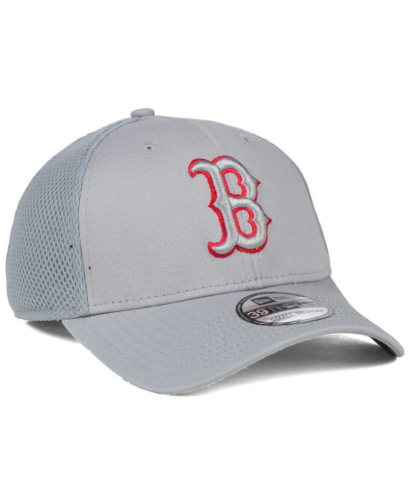 online retailer 10ecc 6122b KTZ Boston Red Sox Grey Neo 39thirty Cap in Gray for Men - Lyst