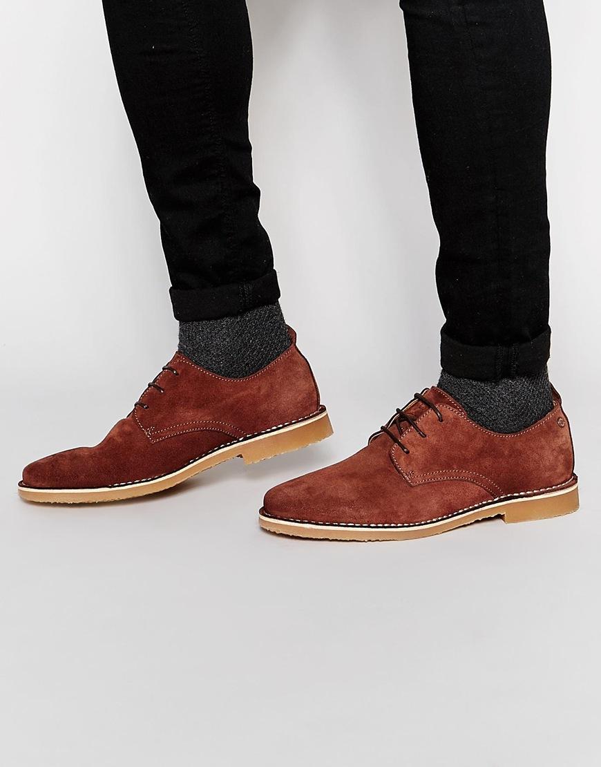 jack jones gobi suede shoes in brown for men lyst. Black Bedroom Furniture Sets. Home Design Ideas