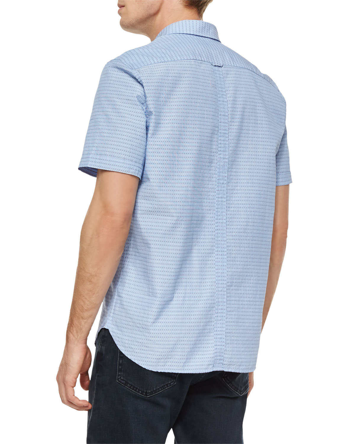 Lyst Fred Perry Polka Dot Print Short Sleeve Shirt In