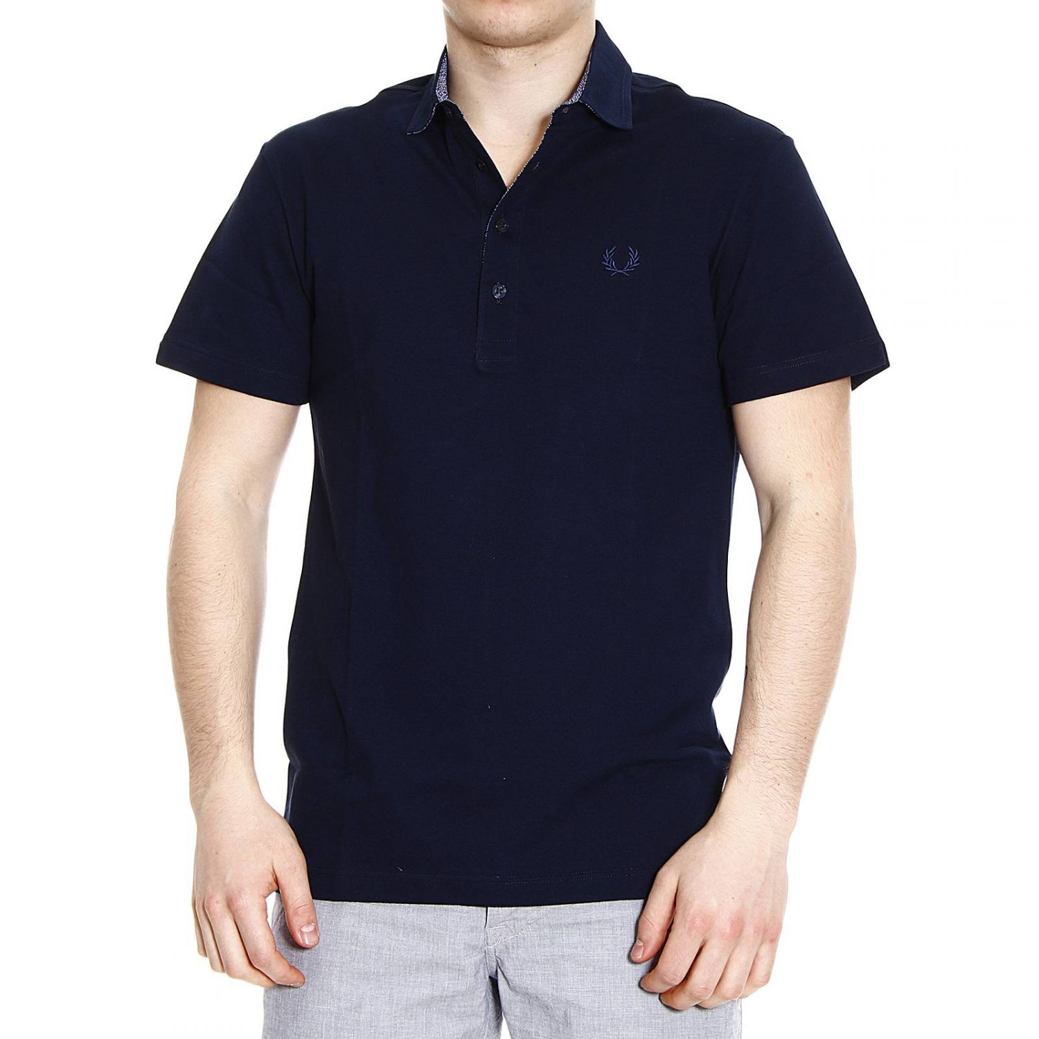 Fred perry t shirt polo piquet half sleeve slimfit stretch for Full sleeve polo t shirts