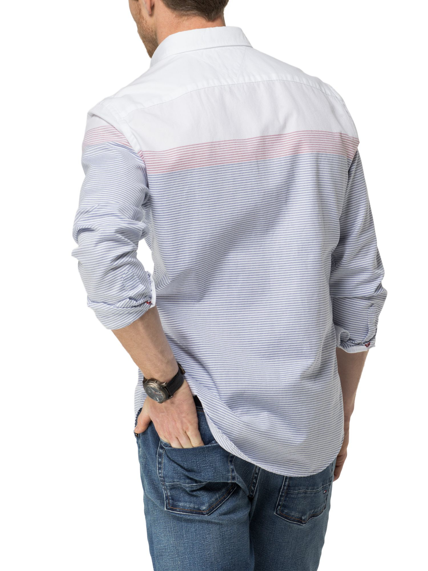 Tommy hilfiger engineered ithaca stripe shirt in blue for for Tommy hilfiger fitzgerald striped shirt