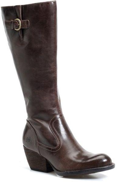 born freeda leather boots in brown espresso leather