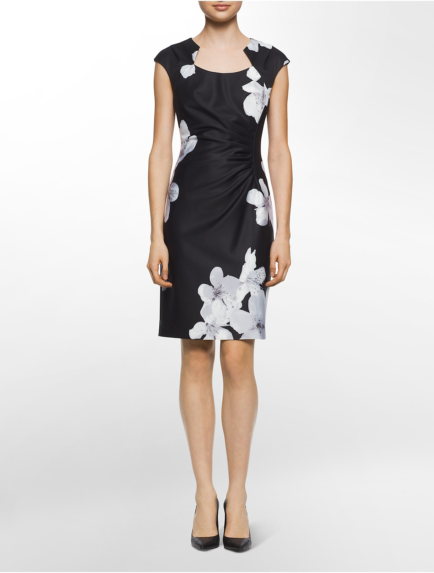 Black And White Flower Print Dress Flowers Healthy