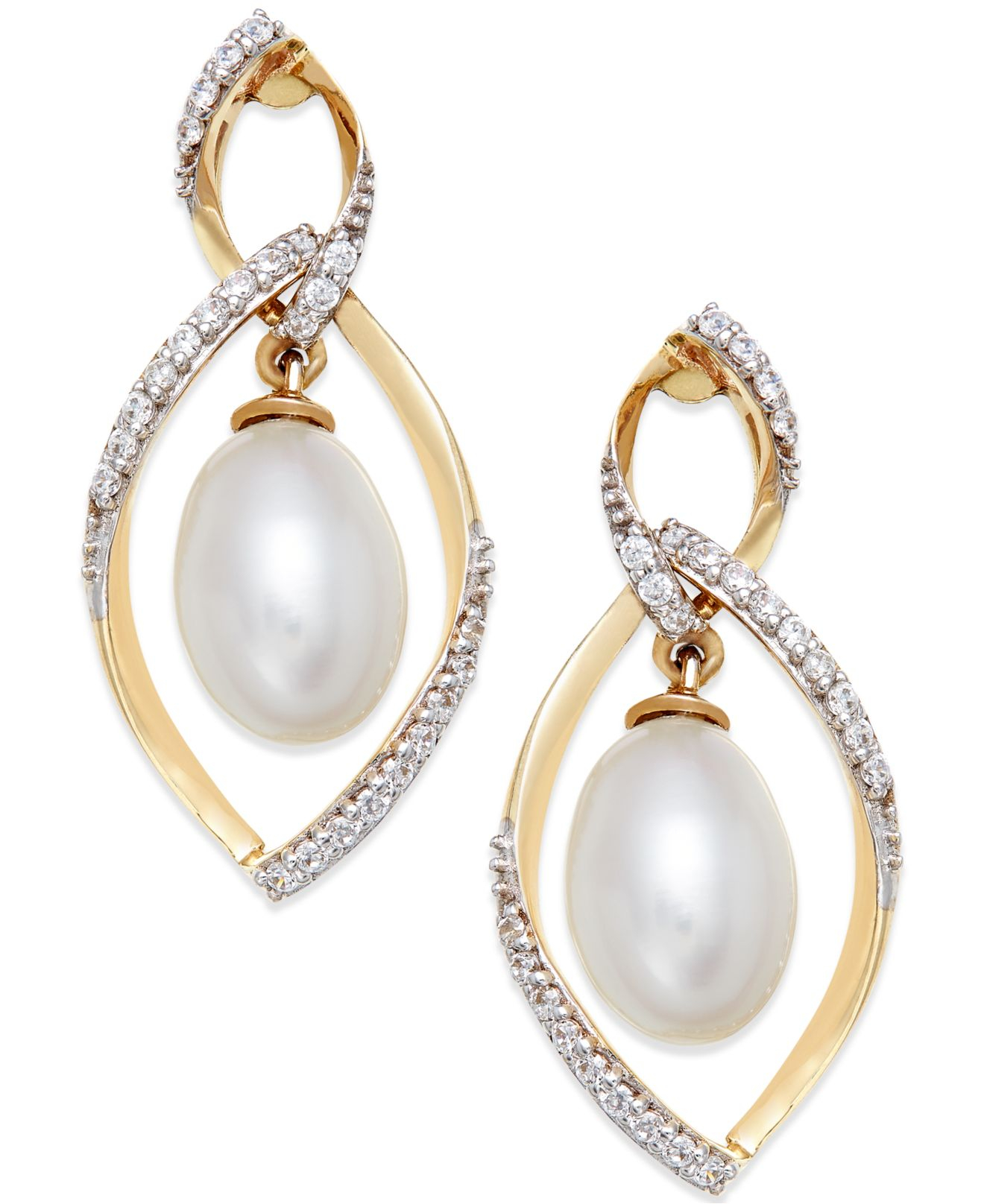 macy s cultured freshwater pearl 9mm and accent