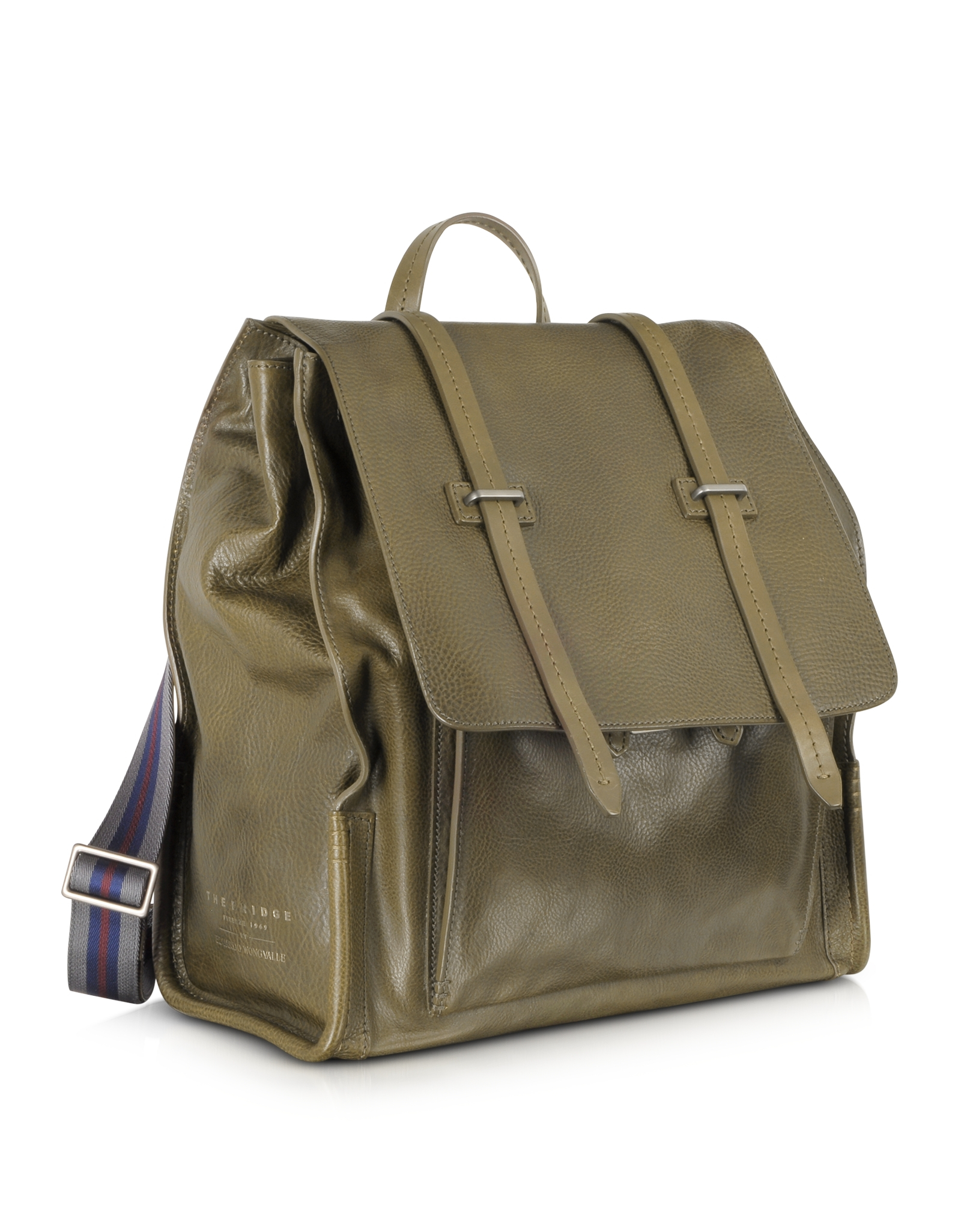 The bridge Ascott Olive Green Leather Backpack in Green for Men | Lyst