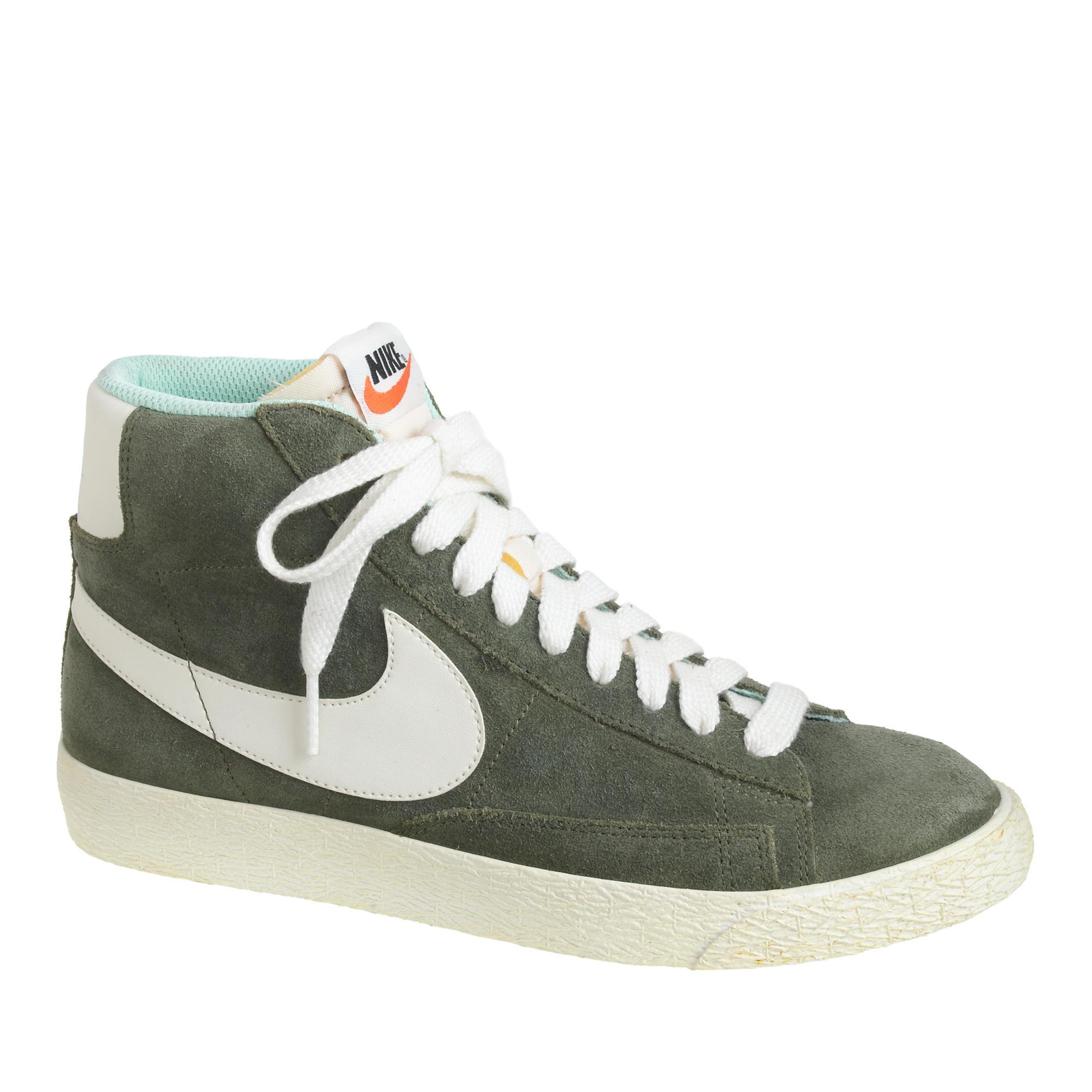 J.Crew Women's Nike Suede Blazer Mid Vintage Sneakers in Olive ...