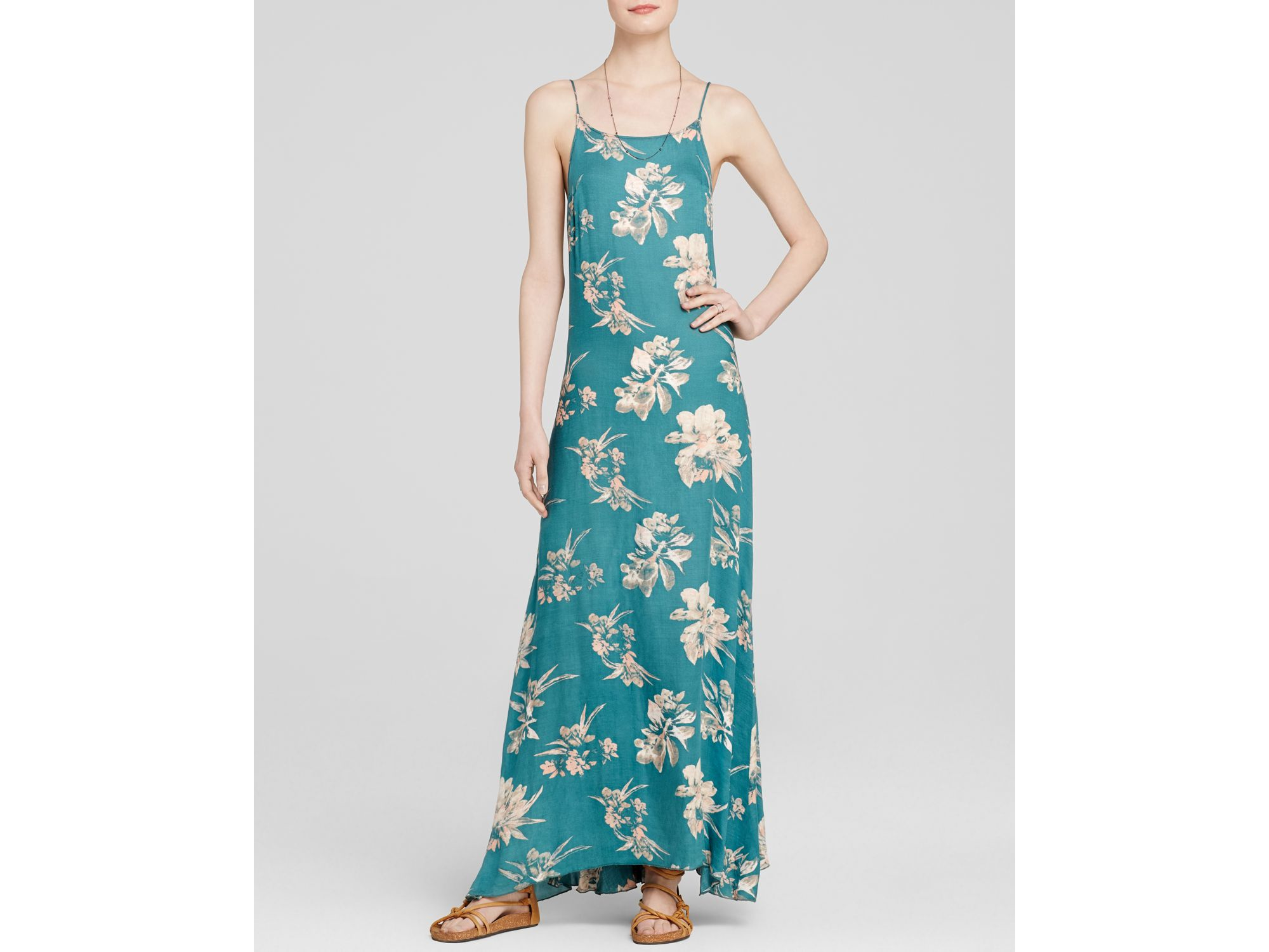 Free people Star Chasing Slip Dress in Green