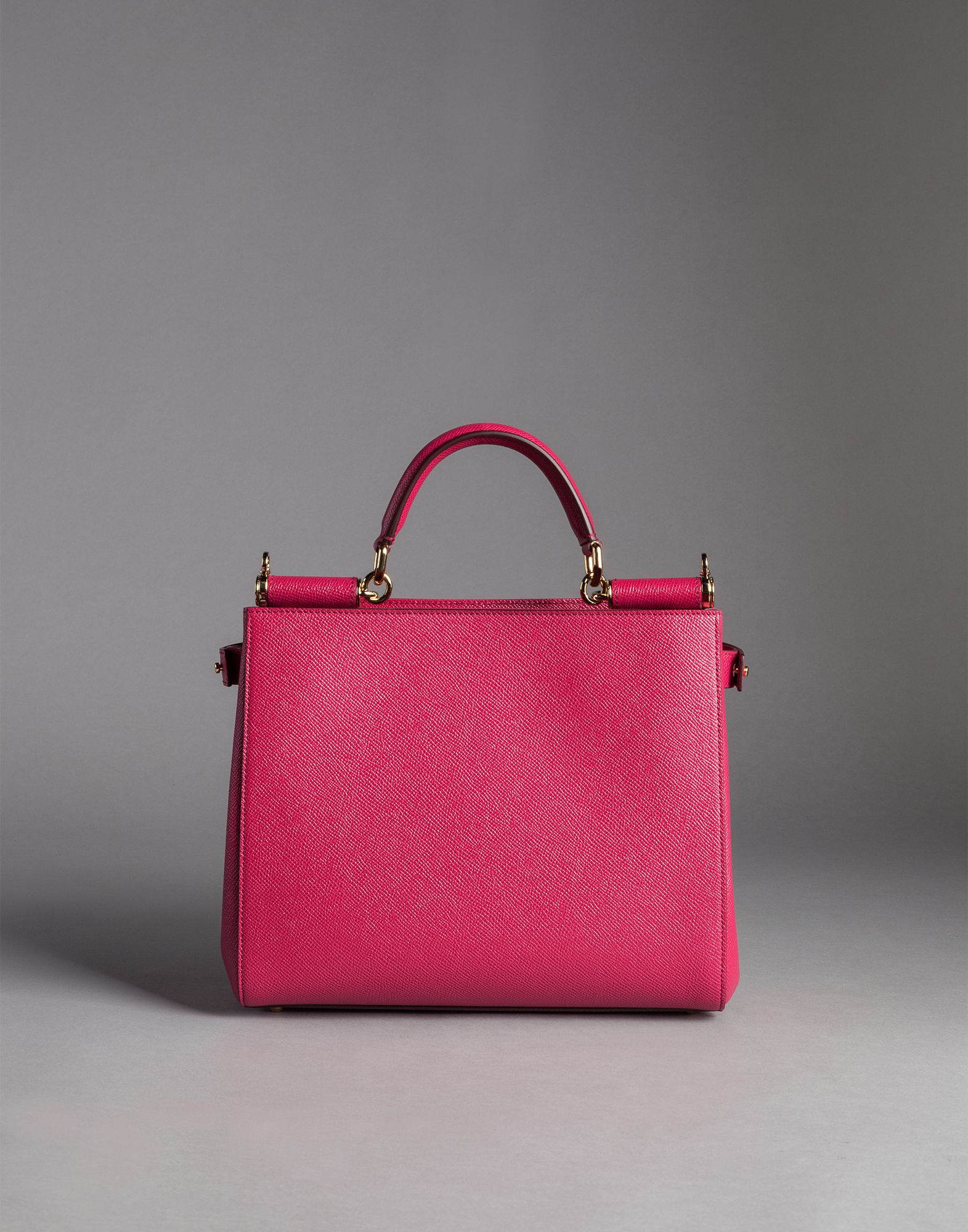 Lyst - Dolce   Gabbana Dauphine Calfskin Sicily Shopping Bag in Pink 9ced5138920be