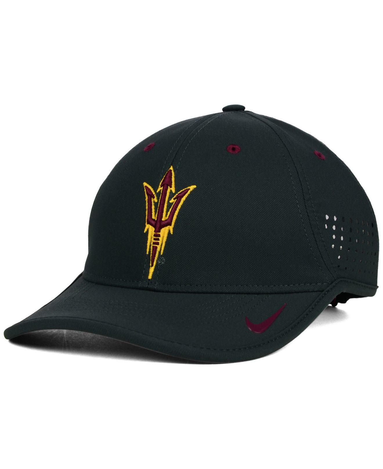 276115bed330d good nike arizona state university hat 06d7f 04b29  sweden lyst nike  arizona state sun devils dri fit coaches cap in gray for men c784a