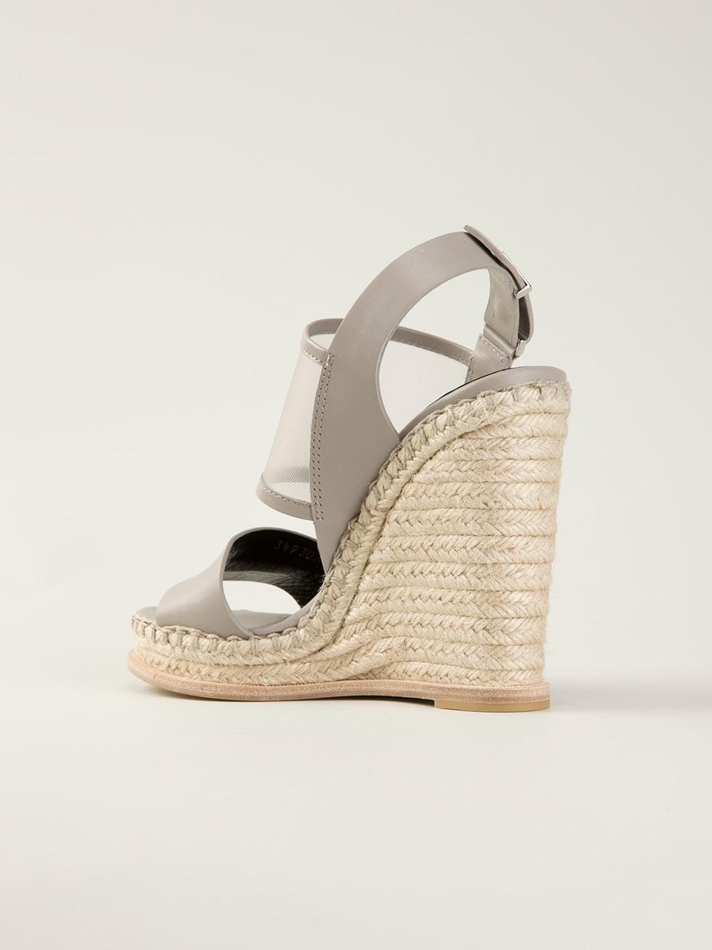 Balenciaga Wedge Sandals In Gray Lyst
