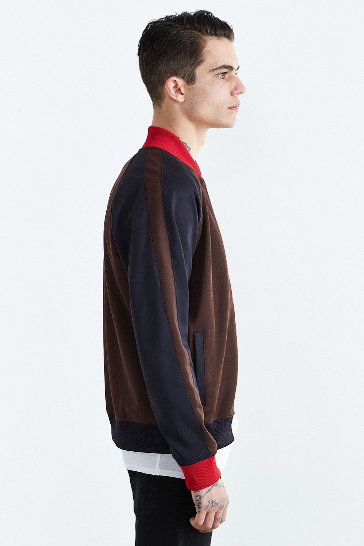 024677660 Fred Perry Brown Bomber Track Jacket for men