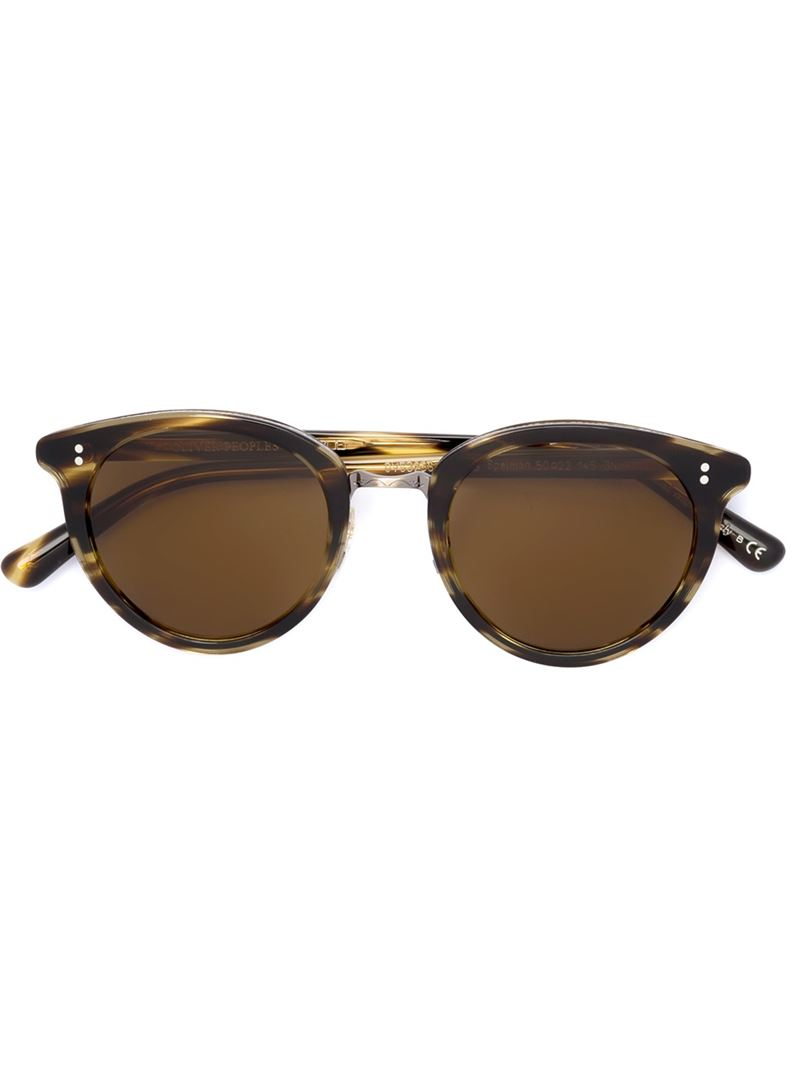 oliver peoples spelman sunglasses in brown lyst