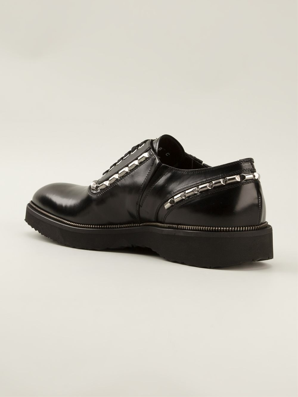 Cesare Paciotti Studded Shoes in Black for Men