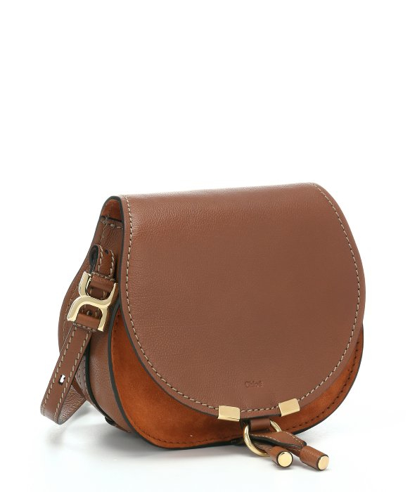 chloe wallets online - Chlo�� Classic Tobacco Calfskin \u0026#39;marcie Nude\u0026#39; Small Saddle Bag in ...