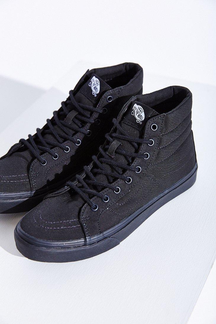lyst vans sk8 hi slim sneaker in black. Black Bedroom Furniture Sets. Home Design Ideas
