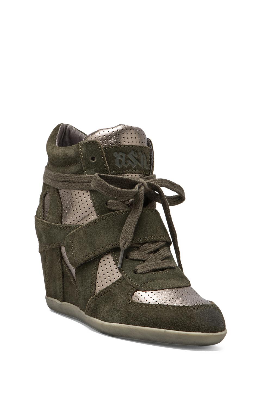 Lyst Ash Bowie Wedge Sneaker In Green