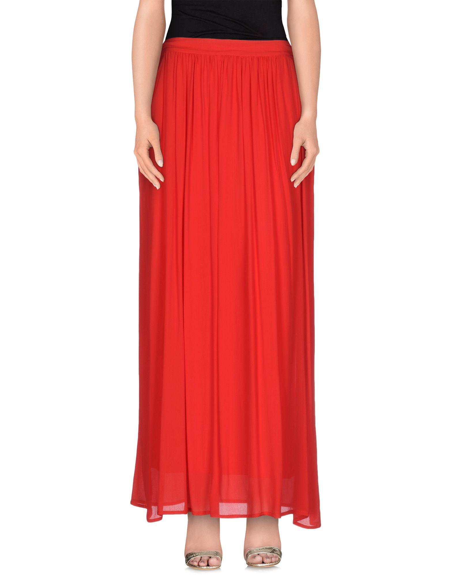 Lyst - Soallure Long Skirt in Red