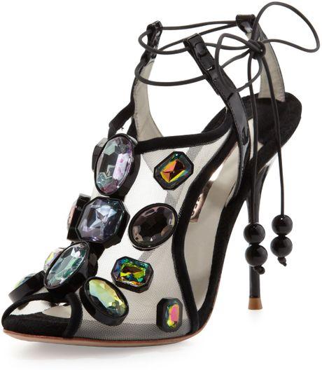 Sophia Webster Blake Jewels Sandal Black In Black Lyst