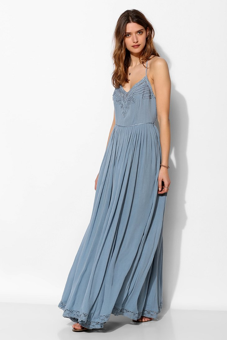 Kimchi blue Dove Crinkle Gauze Maxi Dress in Blue  Lyst