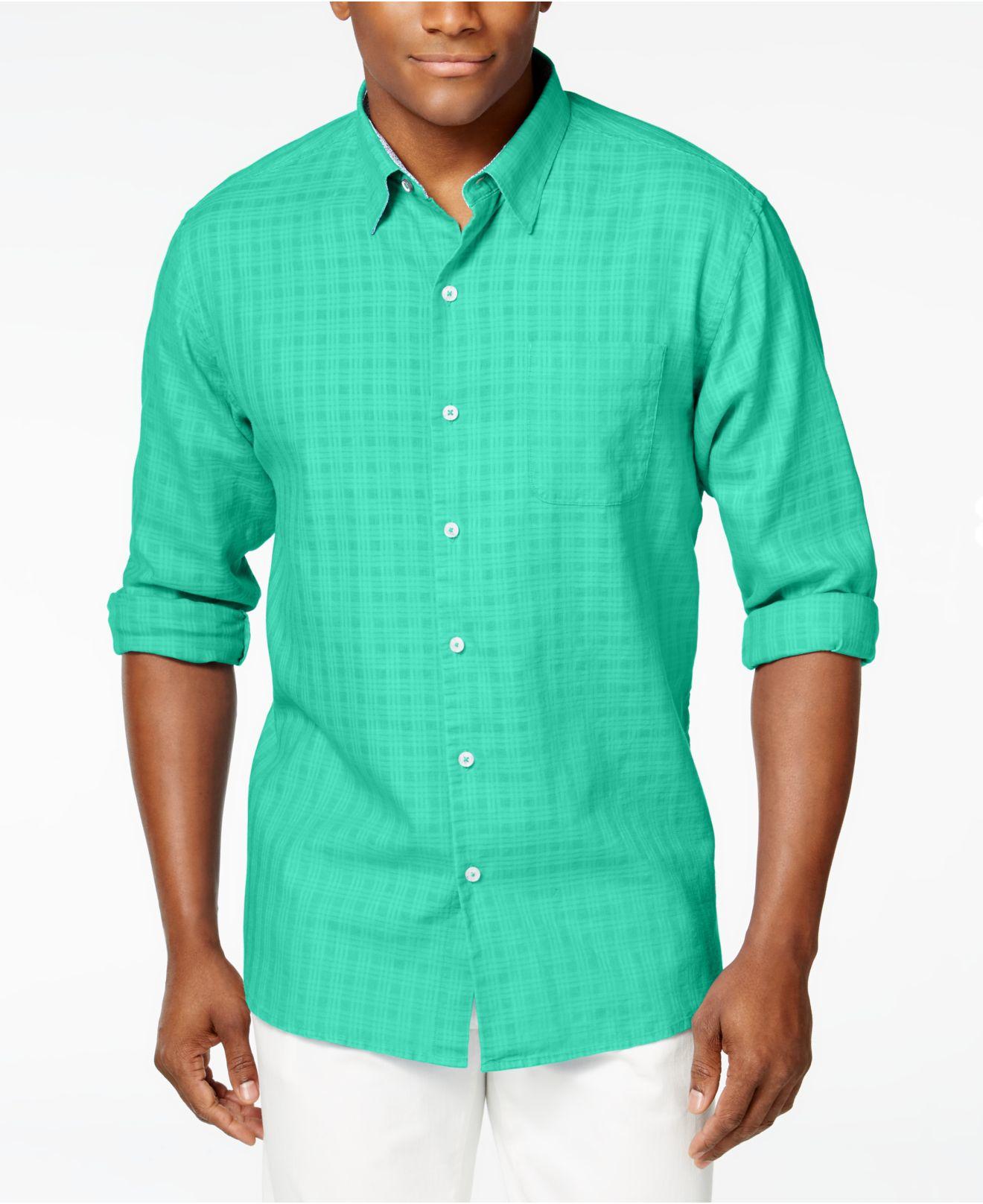 Lyst tommy bahama men 39 s sydney squares long sleeve shirt for Tommy bahama long sleeve dress shirts