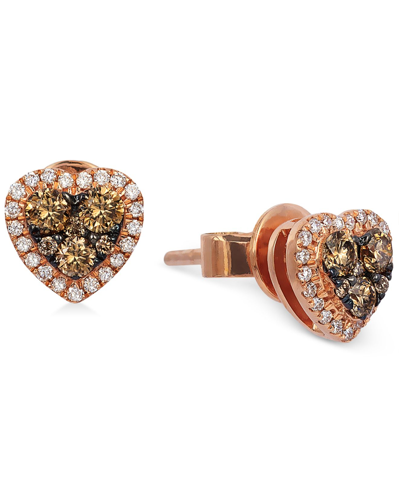 le vian chocolatier chocolate and white earrings