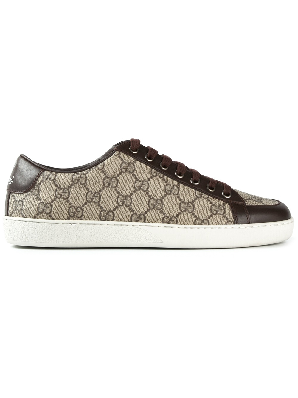 Gucci Logo Trainers in Brown for Men - Lyst