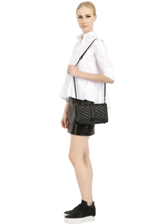 Rebecca Minkoff Love Quilted Leather Shoulder Bag In Black