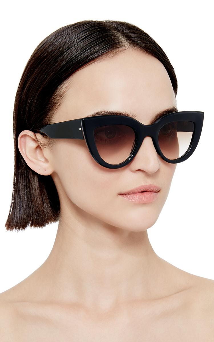261ed31ac7 Lyst - Ellery Black Quixote Cat Eye Sunglasses in Black