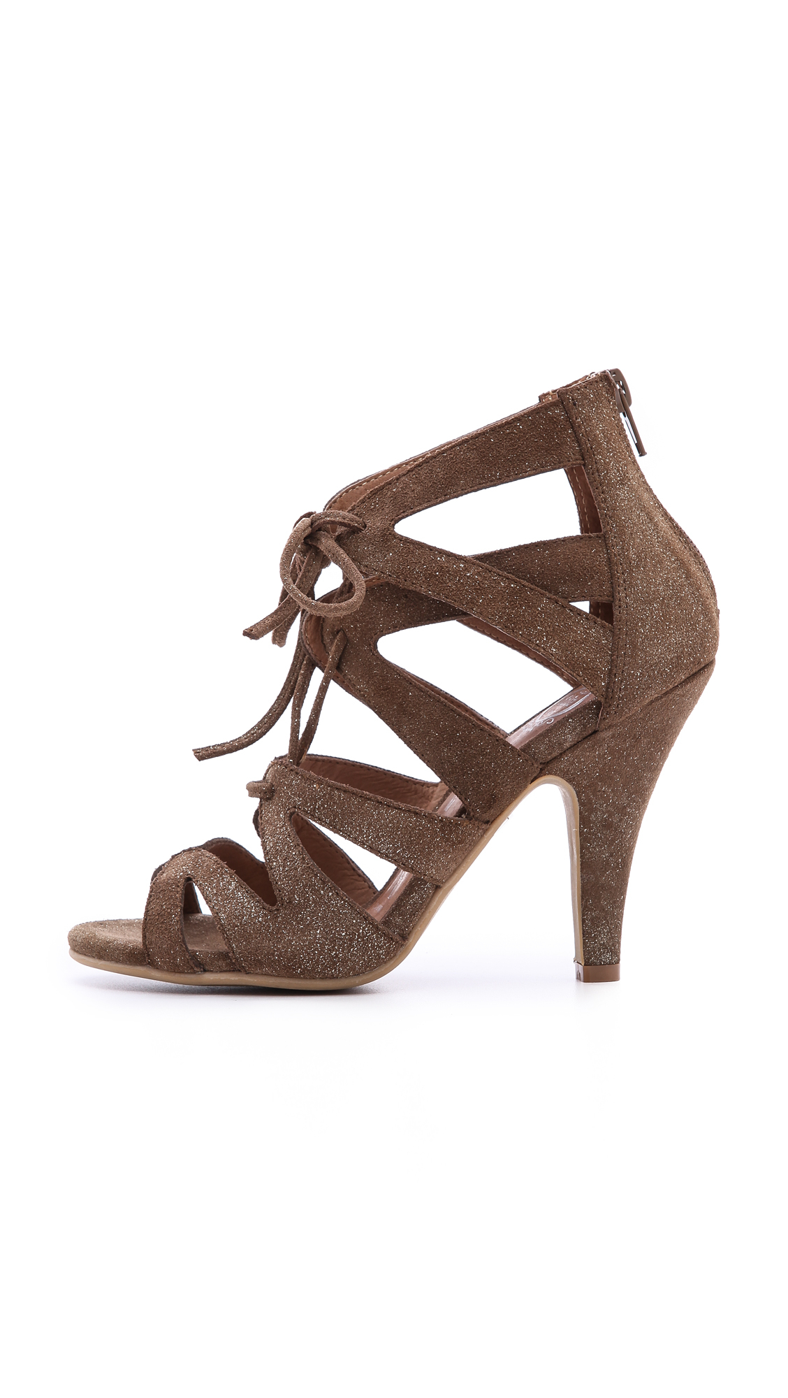 Lyst Jeffrey Campbell Laramie Lace Up Sandals Brown In Brown