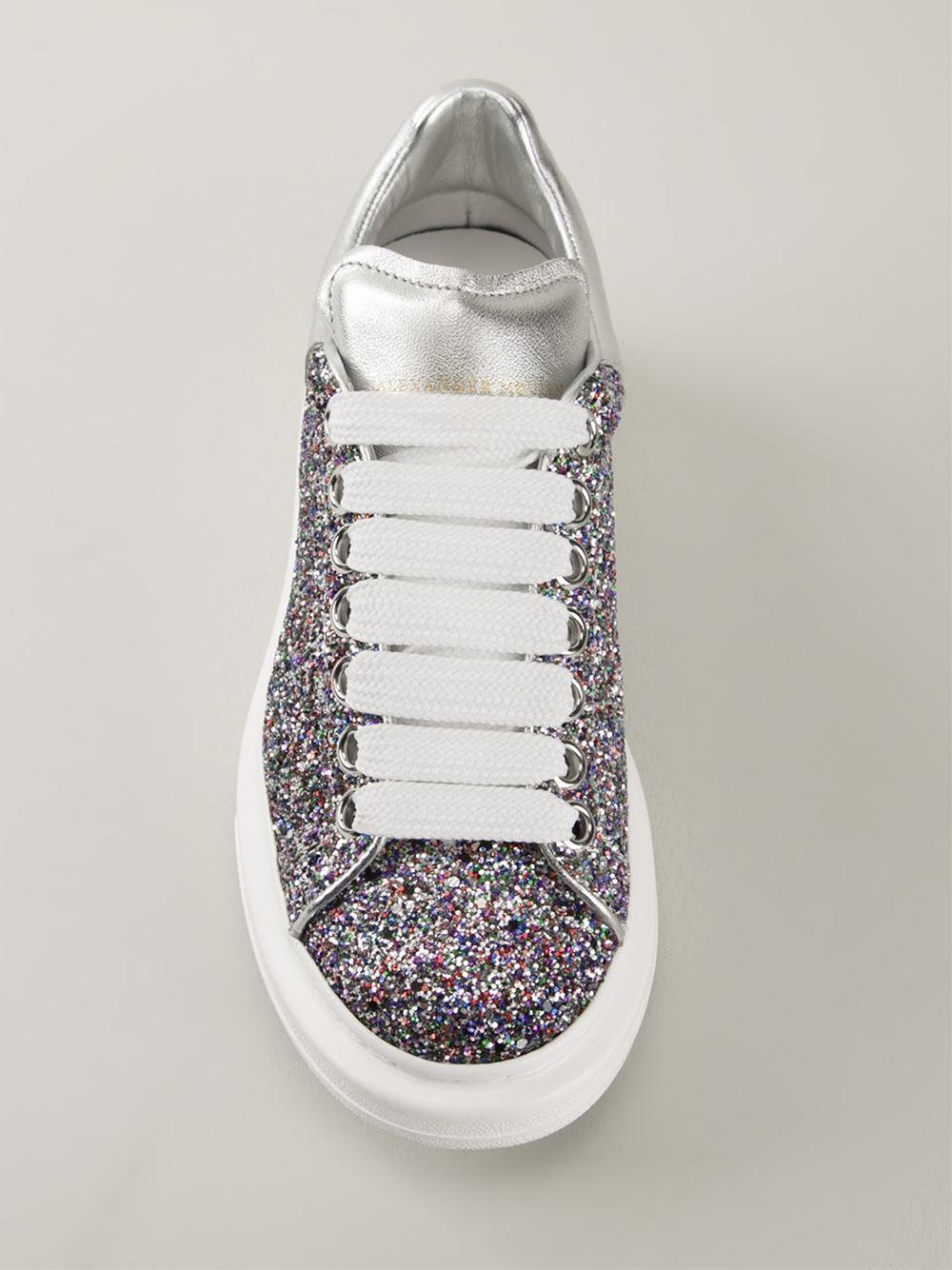 Alexander McQueen Sparkle Sneakers - Lyst