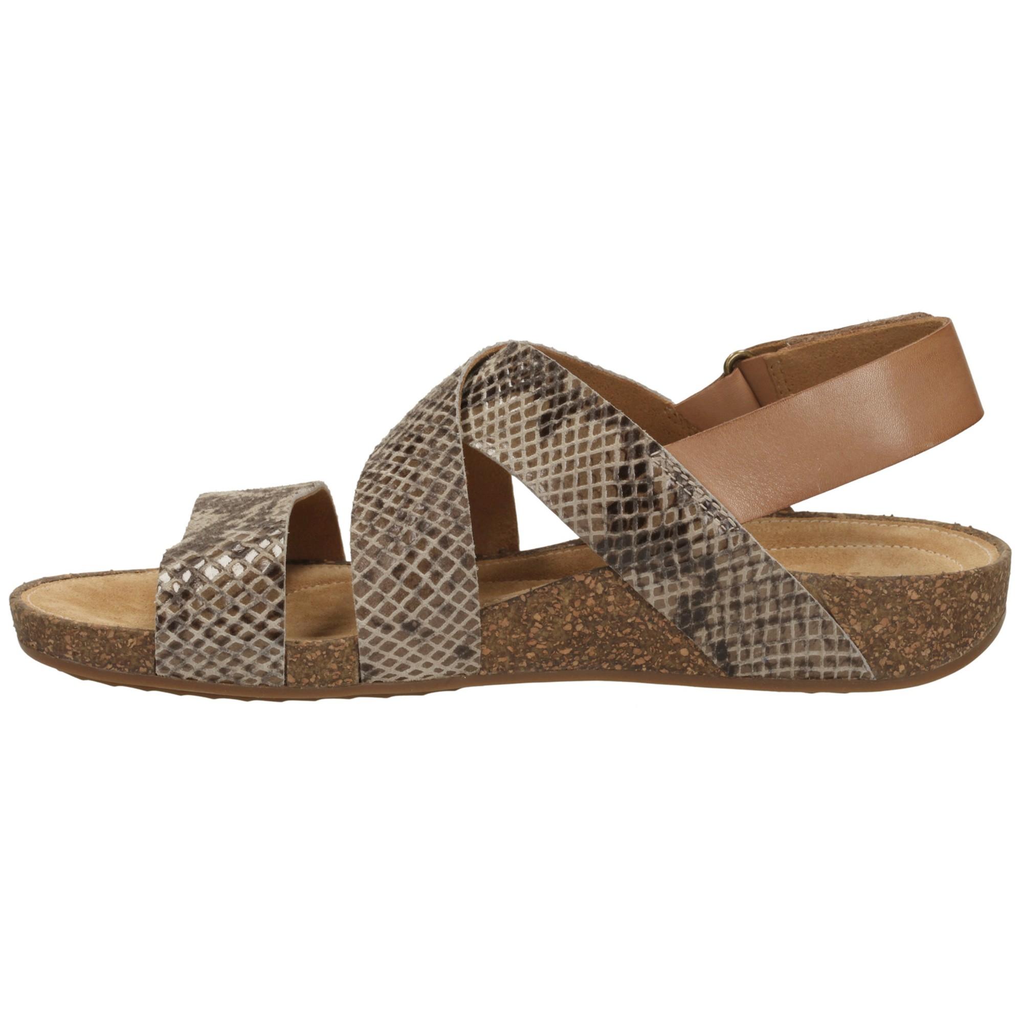 fd9827a47d2c2 Clarks Perri Dunes Suede Snake Sandals in Brown - Lyst