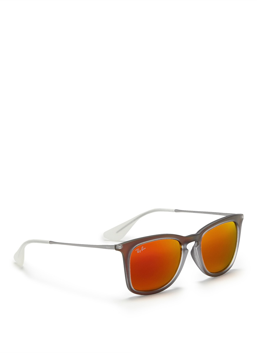 Ray Ban Wireframe Glasses : Ray-ban Rb4221 Rubberised Frame Wire Temple Mirror ...