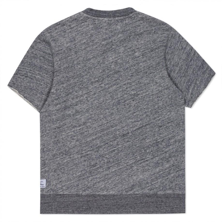 Paul smith Men's Grey Marl Loopback-cotton Short-sleeve Sweatshirt ...