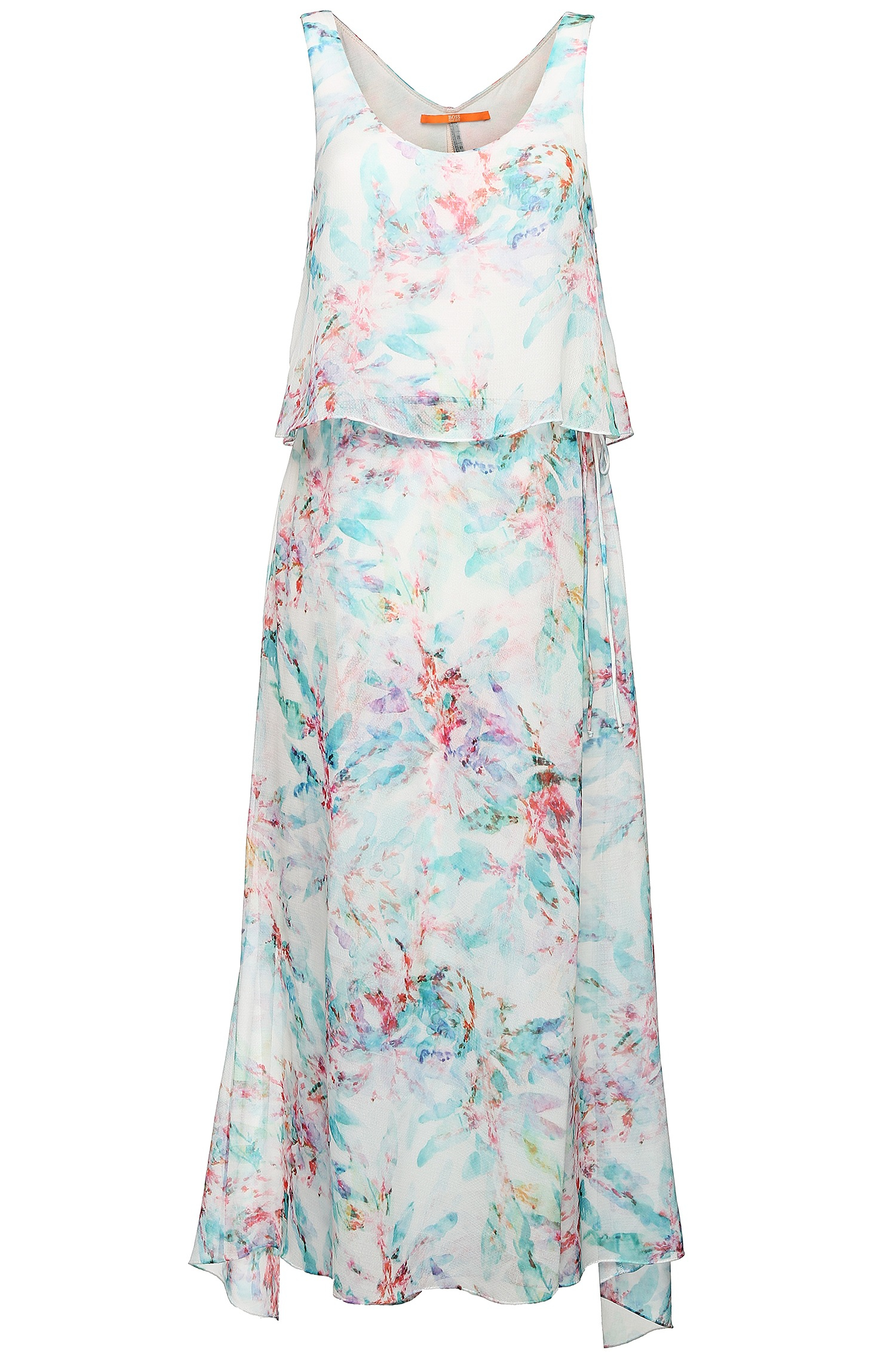 Boss orange Floral Patterned, Maxi Dress: 'aglamy' in Blue | Lyst
