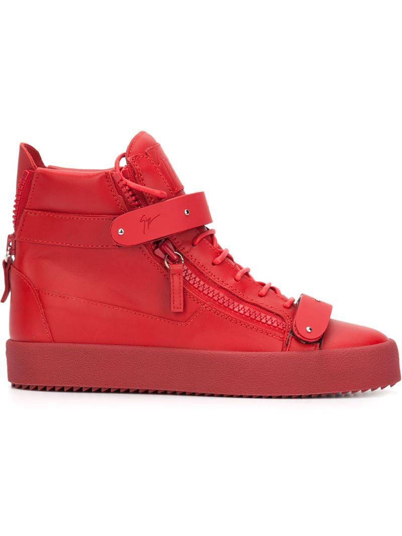 4305ef7d0d8e3 Giuseppe zanotti 'trix' Hi-top Sneakers in Red for Men   Lyst