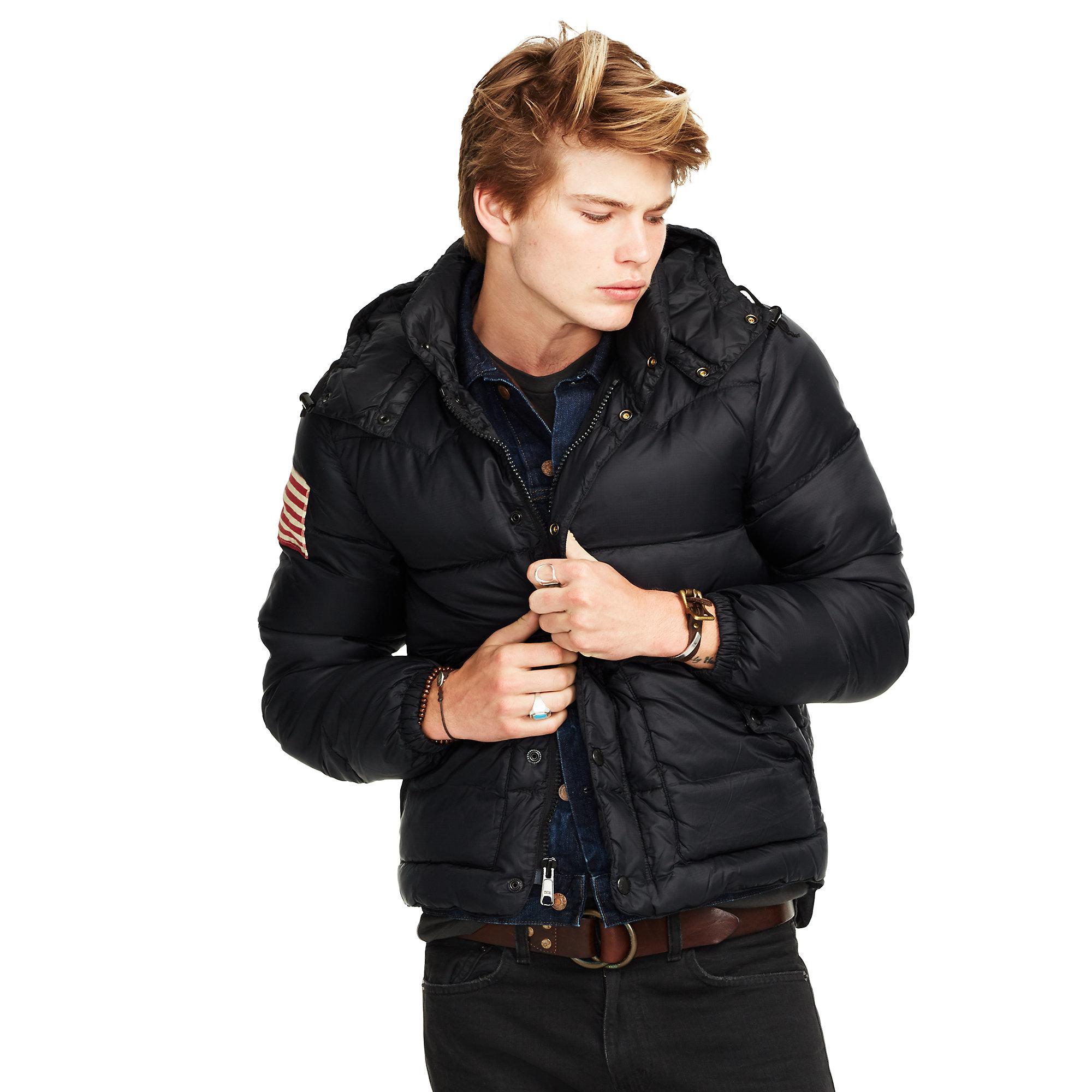 Denim Amp Supply Ralph Lauren Quilted Ripstop Down Jacket In