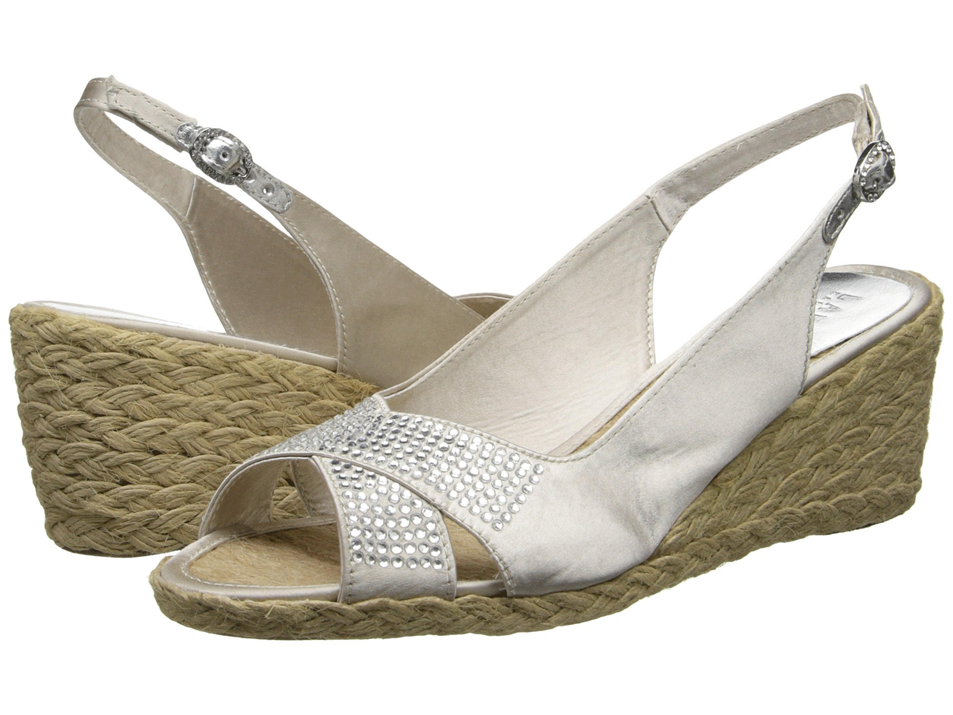 Ralph Lauren Sandals Womens - Ralph Lauren Chayne Silver Grey