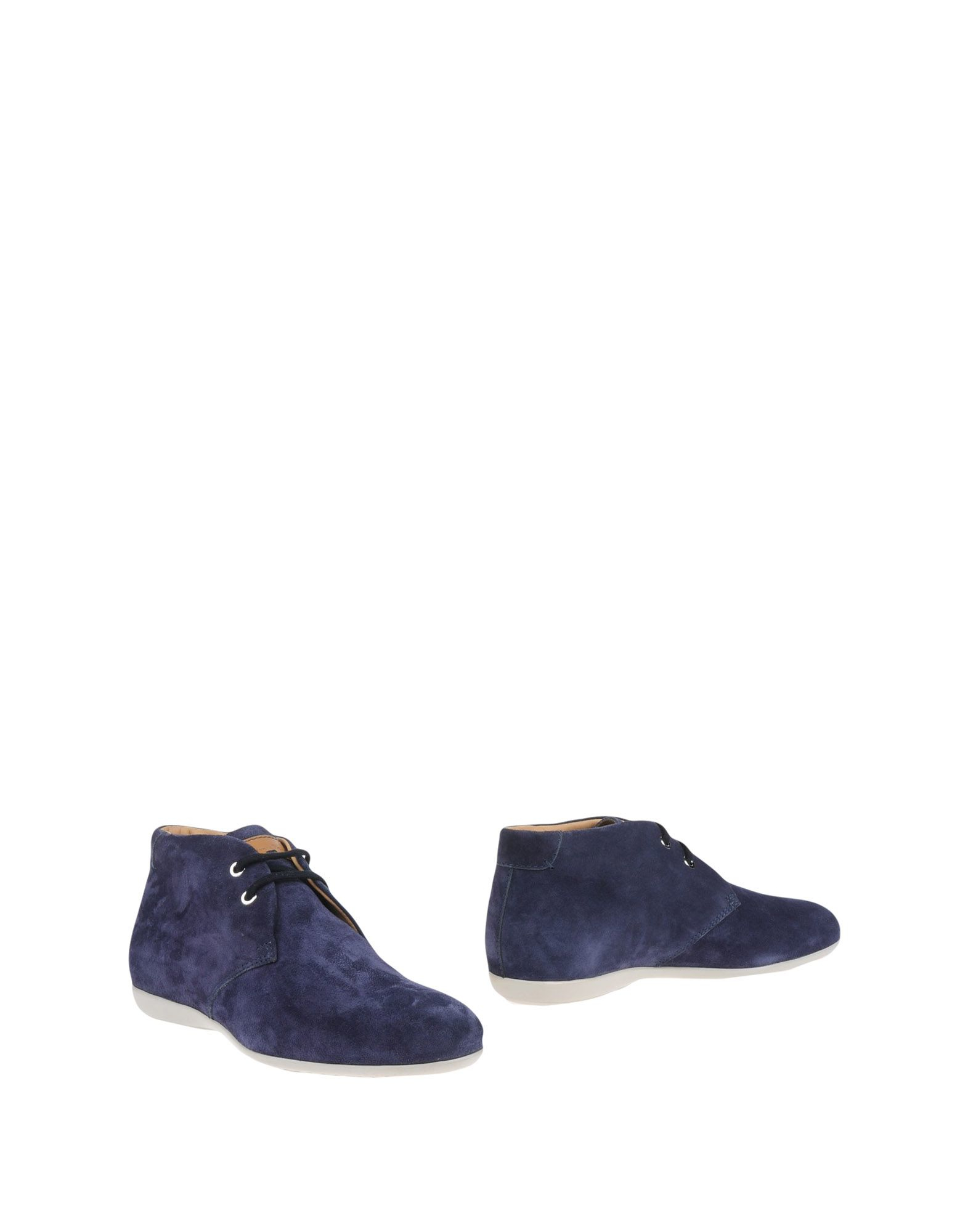 santoni ankle boots in blue for lyst