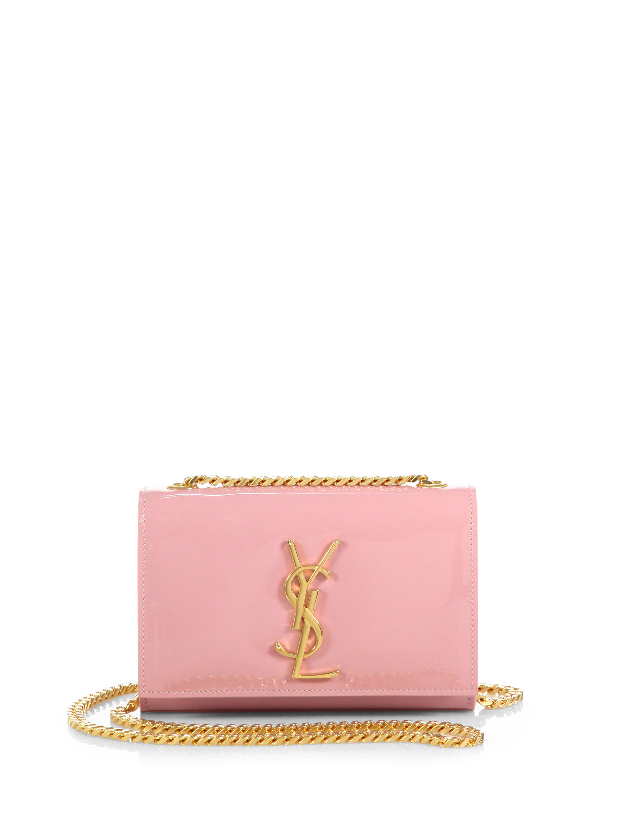 4bba9c7984 Saint laurent Monogram Small Patent Leather Chain Crossbody Bag in . ...