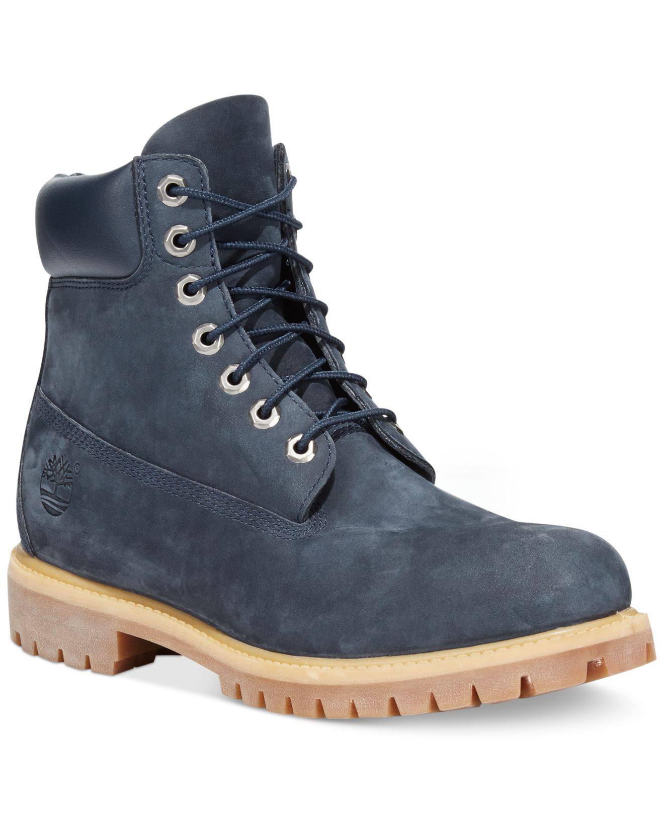 timberland icon 6 quot premium boots in blue for lyst