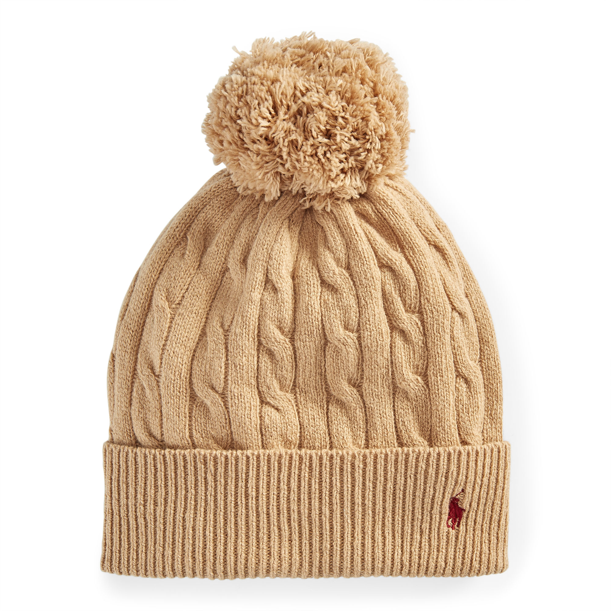 706afa43d Polo Ralph Lauren Natural Cable-knit Pom-pom Hat