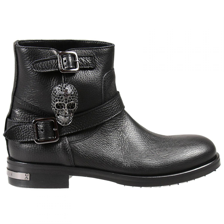 philipp plein boots in black lyst. Black Bedroom Furniture Sets. Home Design Ideas