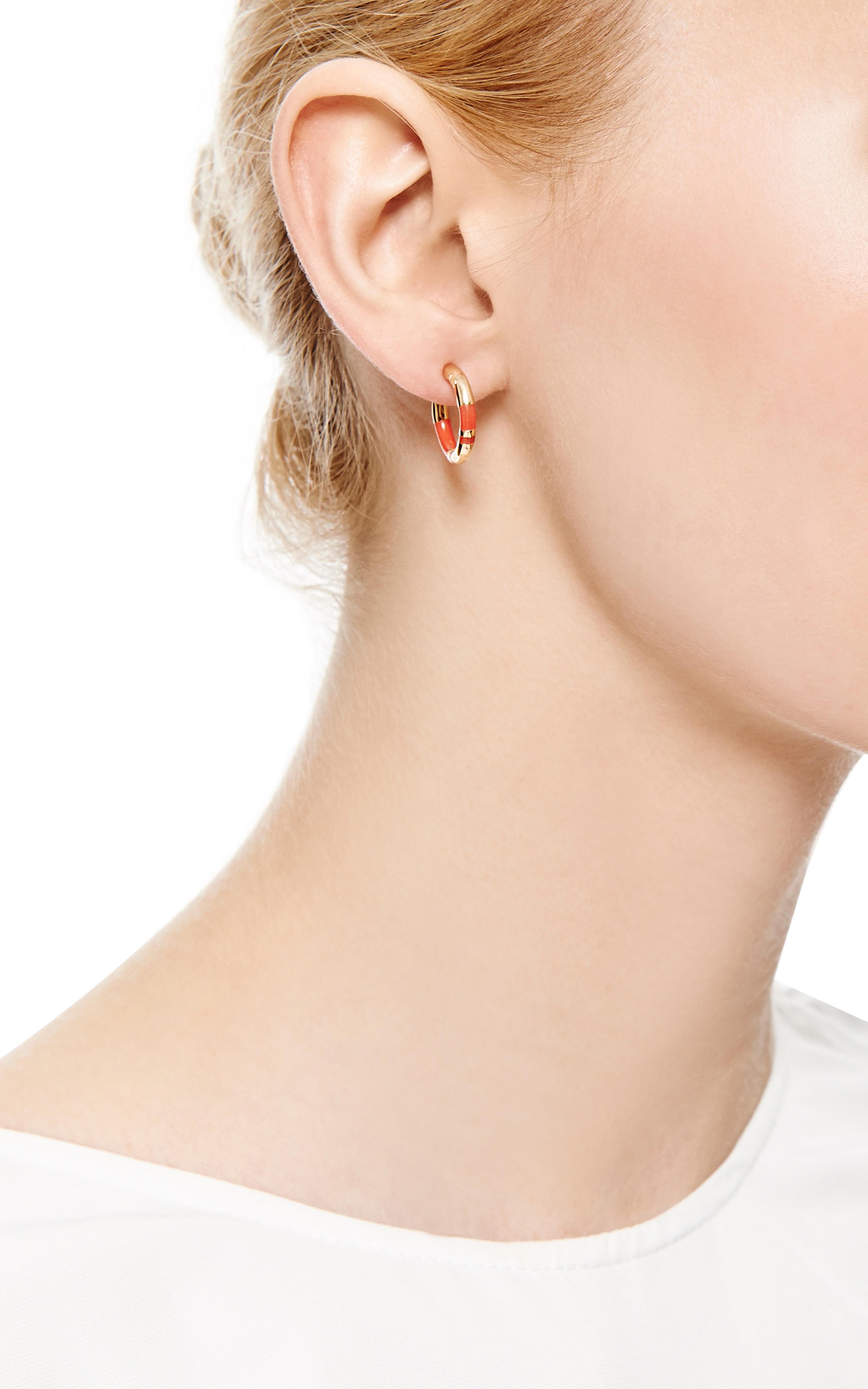 Aurélie Bidermann Positano mini hoop earrings mW4W2uda