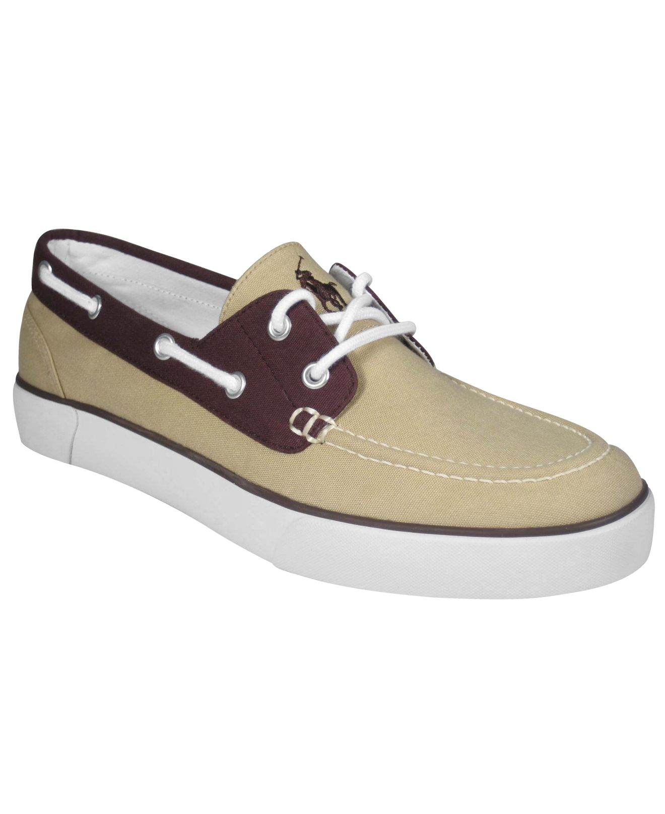 polo ralph lander boat shoes in for lyst